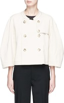 Bassike Cropped twill trench coat