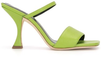 BY FAR Nayla 90mm leather sandals