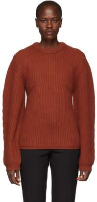 Chloé Orange Cashmere Crewneck Sweater