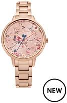 Cath Kidston Trailing Rose Rose Gold Bracelet Ladies Watch
