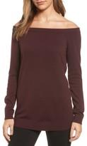 Women's Halogen Cotton Blend Off The Shoulder Sweater