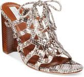 Cole Haan Claudia Block-Heel Lace-Up Sandals