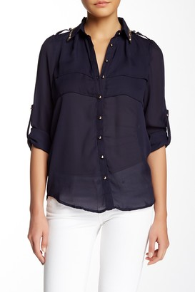 Tov Sequin Trim Blouse