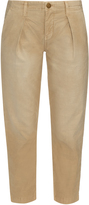 Current/Elliott The Tapered mid-rise cropped trousers