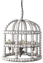 Bungalow Rose Bressler 4 - Light Lantern Geometric Chandelier
