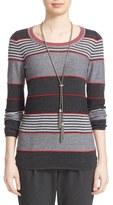 St. John Women's Stripe Wool Blend Sweater