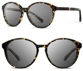 Shwood Women's 'Bailey' 53Mm Round Sunglasses - Black/ Ebony/ Grey