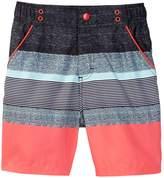 Andy & Evan Coral Stripe Swim Short (Toddler & Little Boys)