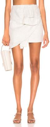Atoir Be With You Skirt in Grey & White Stripe | FWRD