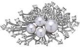 Nina 'Crystal Spray' Crystal & Faux Pearl Brooch