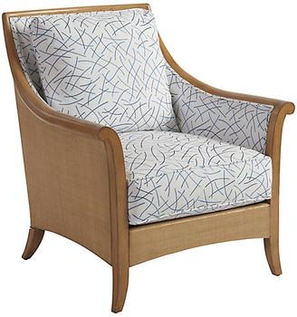 Barclay Butera Nantucket Raffia Accent Chair - Blue/White