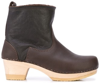 NO.6 STORE Shearling-Lined Ankle Boots