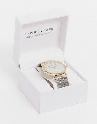 Christin Lars two tone watch