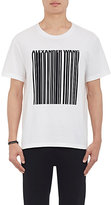 Alexander Wang Men's Bar-Code Cotton Jersey T-Shirt-WHITE