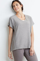 J. Jill Pure Jill Striped Poncho Top