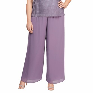 Alex Evenings Women's Wide Leg Dress Pant (Petite Regular Plus Sizes)