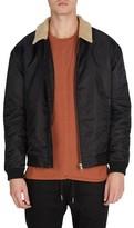 Zanerobe Men's Yeti Nylon Jacket With Faux Shearling Trim
