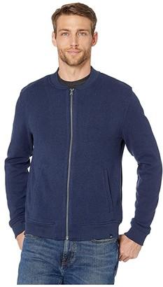 Southern Tide Samson Peak Sweater Fleece Bomber Jacket (Heather True Navy) Men's Clothing