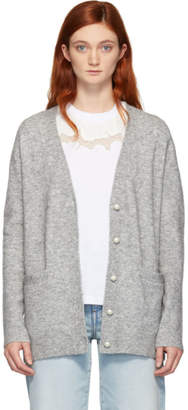 3.1 Phillip Lim Grey Pearls Cardigan