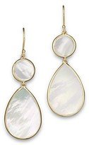 Ippolita 18K Gold Polished Rock Candy 2 Drop Earrings in Mother-of-Pearl