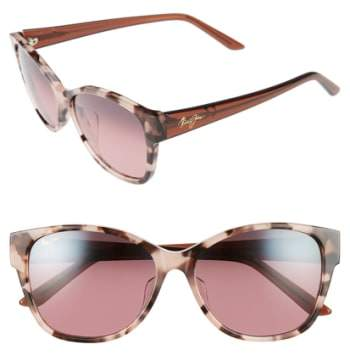 Maui Jim Women's Summer Time 54Mm Polarizedplus2 Cat Eye Sunglasses - White Tokyo Tortoise/ Grey