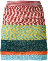 Missoni textured panel mini skirt