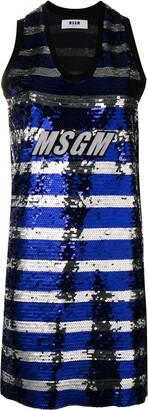 MSGM sequin tank dress