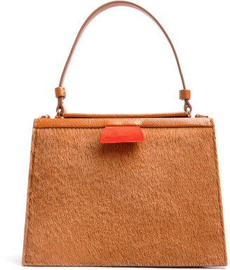 Ostwald Finest Couture Bags Turtle Edge Small In Cognac & Papavero-Red
