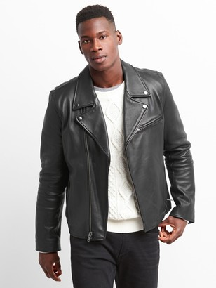 Gap Leather Biker Jacket
