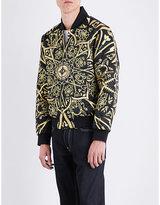 Evisu Embroidered satin bomber jacket