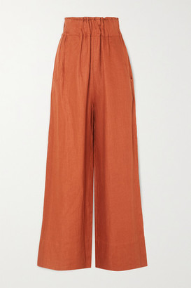 BONDI BORN Net Sustain Universal Linen-twill Wide-leg Pants - Tan