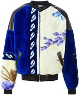 Andrea Crews floral panel bomber jacket