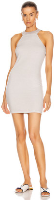 Enza Costa Luxe Rib Halter Mini Dress in Ash | FWRD