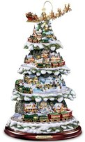 Thomas Laboratories Kinkade Wonderland Express Animated Tabletop Christmas Tree With Train by Hawthorne Village