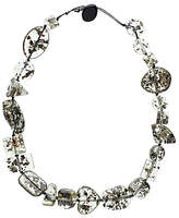 Jackie Brazil Short Indiana Necklace, Clear/Seaweed