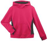 adidas Shock Pink & Granite Fleece Hoodie - Girls
