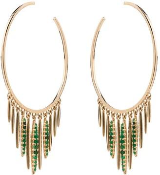 Ileana Makri Grass Sunset hoop earrings