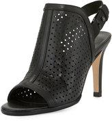 Sesto Meucci Bendyk Perforated Leather Sandal, Black