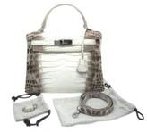 Hermes pristine (PR Himalaya Blanc Kelly 28 cm Matte Crocodile Collector's Piece