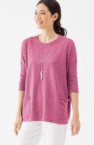 J. Jill Pure Jill Cotton & Linen Easy Pullover