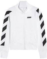Off-White Printed Cotton-blend Jersey Jacket - x small