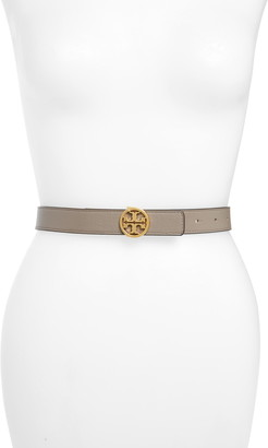Tory Burch T-Logo Reversible Leather Belt