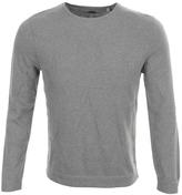 Edwin Fine Star Knit Jumper Grey Marl