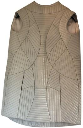 Theyskens' Theory Beige Leather Dress for Women