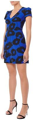Milly Poppy Floral Atalie Dress (Cobalt Multi) Women's Clothing