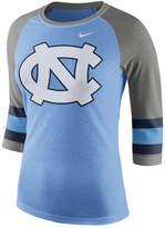 Nike Women's North Carolina Tar Heels Team Stripe Logo Raglan T-Shirt