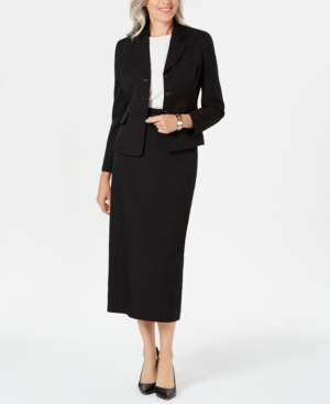 Le Suit Three-Button Skirt Suit