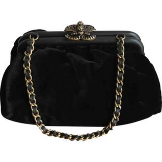 Chanel \N Black Velvet Clutch bags