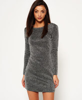 Superdry Metallic Vee Back Knit Dress