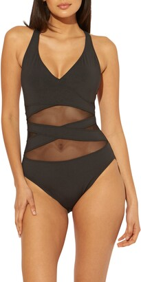 BLEU by Rod Beattie Don't Mesh With Me One-Piece Swimsuit